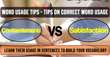 10 Word Usage Tips contentment, Satisfaction