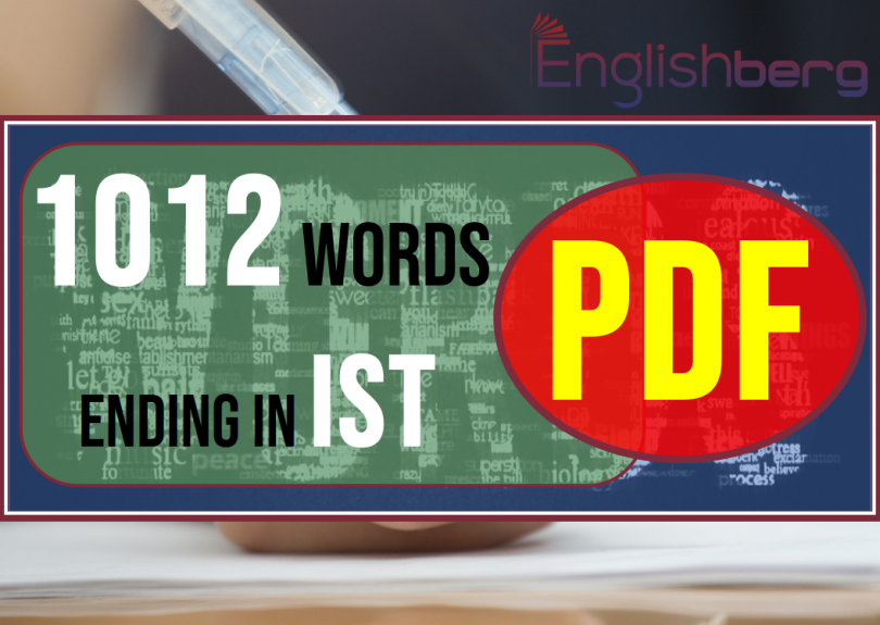 1012 words ending in ist