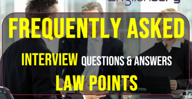Frequently asked Interview Questions & Answers Law points