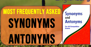 Most frequently asked synonyms and antonyms in competitive exams