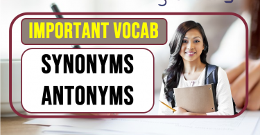 vocabulary words with meaning synonym antonym and sentence