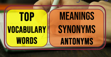 Top vocabulary words Day-13