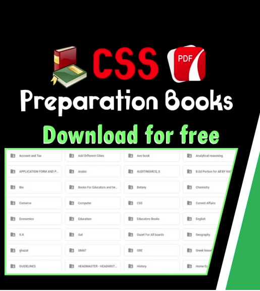 CSS Preparation books Download PDF (Compulsory, Optional Subjects)