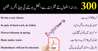 Common english sentences used in daily life with urdu meaning
